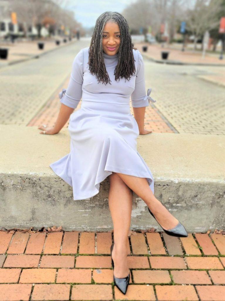 Simplicity S9176 MidLength Long Sleeve Dress