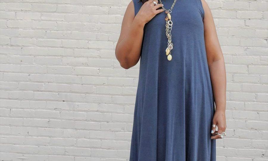 DIY A-Line Knit Max Dress