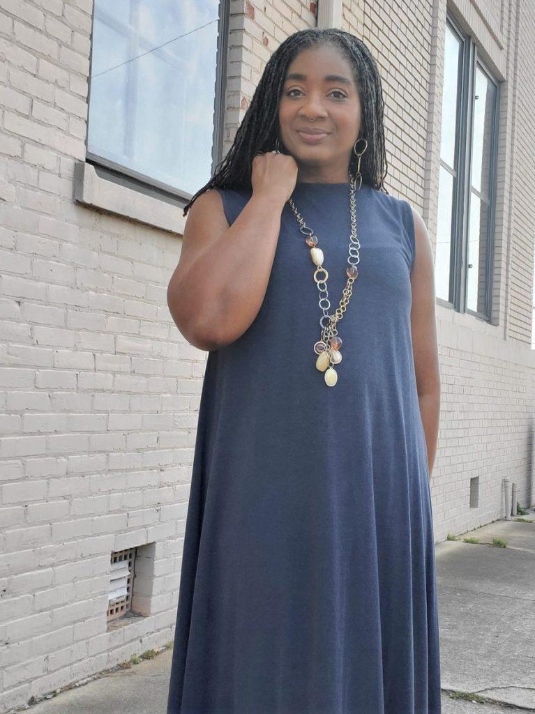 A-Line Knit Maxi Dress