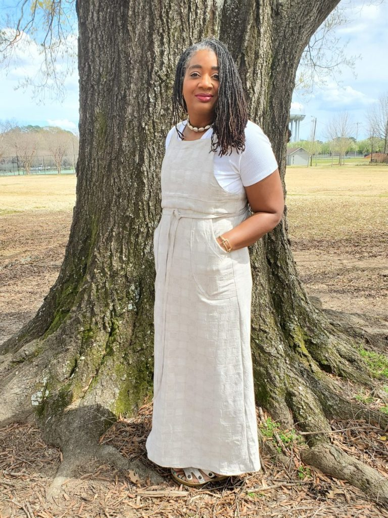 Simplicity 8641 Skirt Jumper with Tie Front