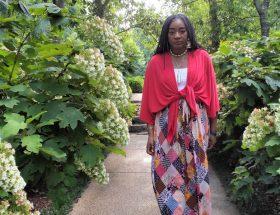 Bohemian Patchwork Maxi Skirt with Drawstring www.sewzaizay.com