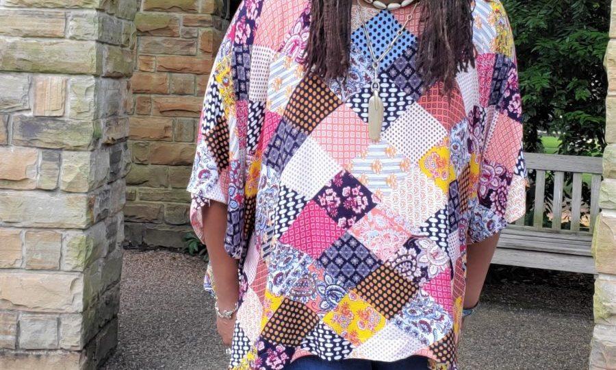 Bohemian Print Tunic with Side Ties