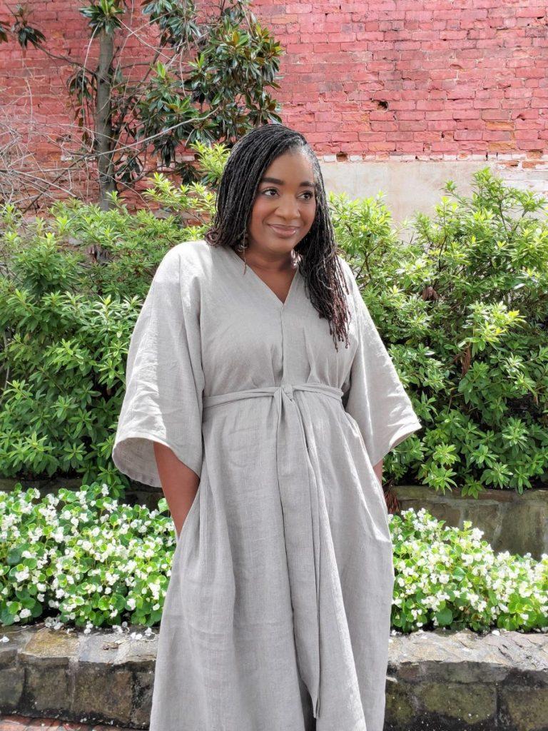 Vogue 9253 Linen Dress