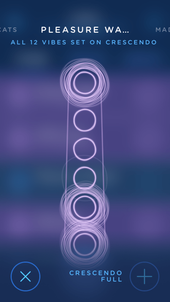 Screenshot of MysteryVibe app showing one of the patterns