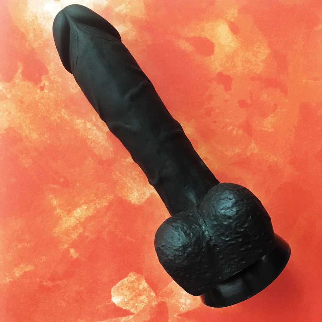 view of the underside of the cloud9 dildo