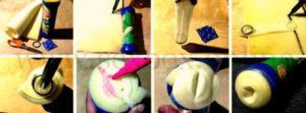 Как самому сделать вагину из поролона, перчатки и банки чипсов в домашних условиях