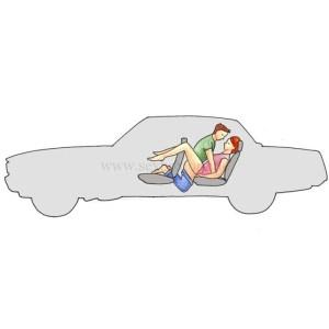 1.20 Поза для секса в машине на заднем сидении Тоннель Девушка сидит по средение закинув ноги на передние кресла Парень упирается коленями в пол
