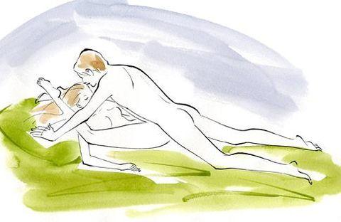 Seashell sex position