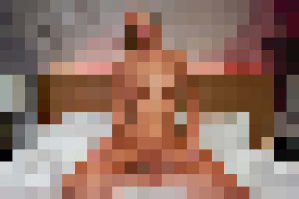 Pixelated image of a nude body