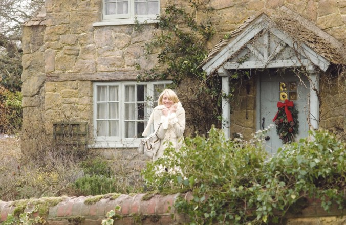 An image from the Holiday of Diaz outside Iris's beautiful cottage