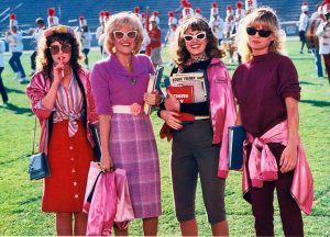 An image from Grease 2 of the Pink Ladies