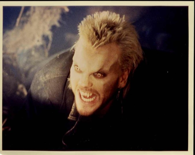 David looking full vampire from The Lost Boys