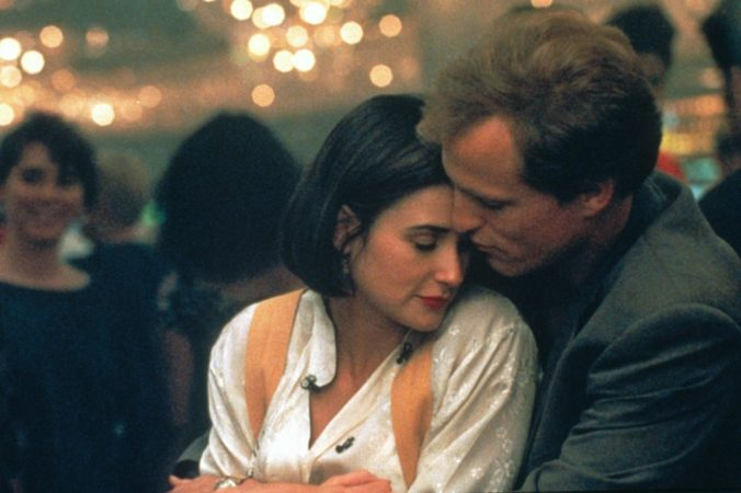 Diana and David embracing in Indecent Proposal