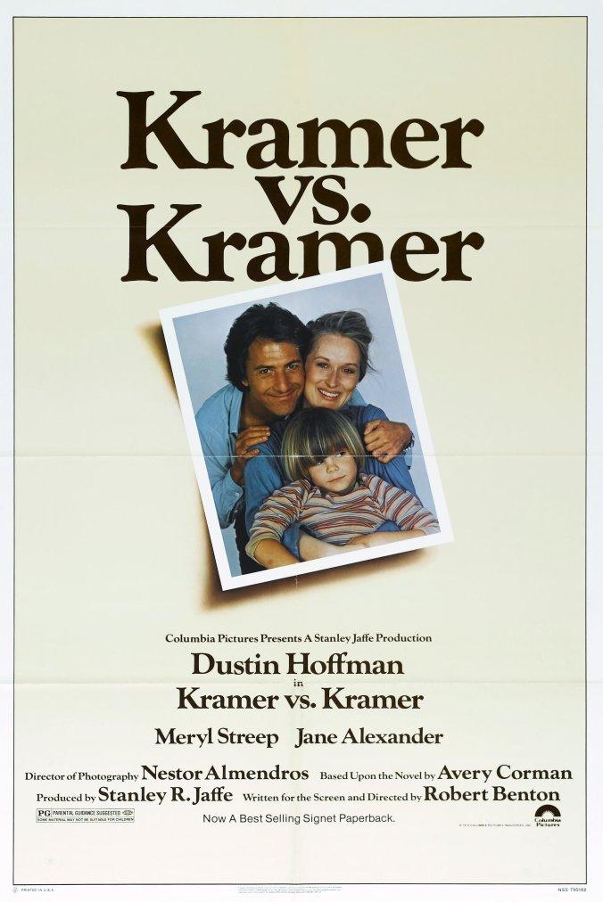 The poster for Kramer vs Kramer, showing an old family photo of the stars