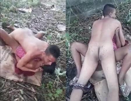 Fdp empatando a foda do amigo no mato