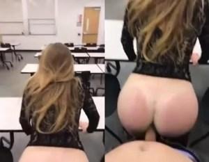 Sexo amador na sala de aula