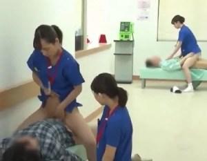 Enfermeiras japonesas tratando pacientes no porno estranho