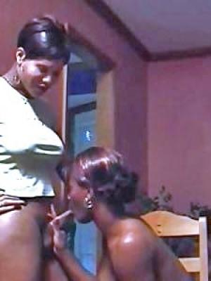 travesti negra se folla a su vecina