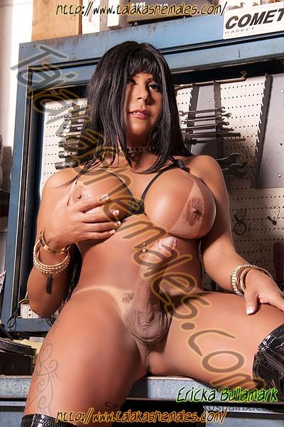 Ericka Bullamark en una agencia de travestis en Valencia