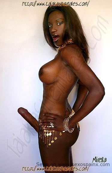 Africanas transexuales con pollas demasiado grandes para follar culos.