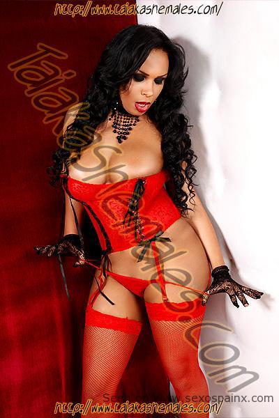 Cachondas transexuales desnudas retirando sus tangas.