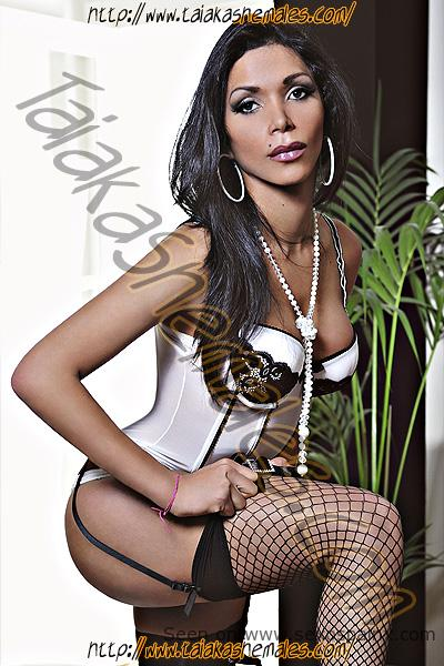 Travesti morena Paola Logviskaia de Brasil con hermosas tetas en Valencia
