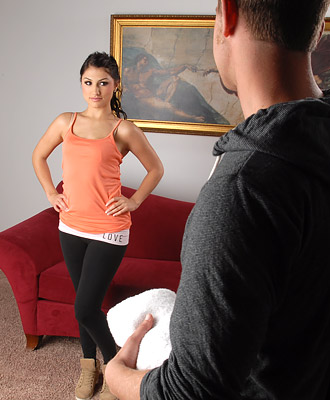 Scarlet Banks in her gym kit.