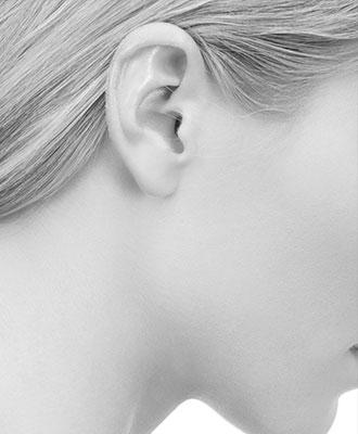 Blow behind the ears