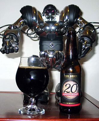 "Red Brick ""Brick Mason Series #7: 20th Anniversary"" Oak Aged Imperial Stout"