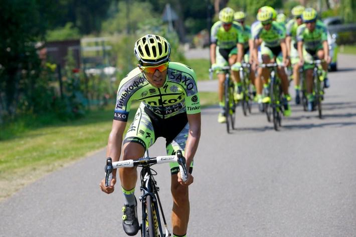 Alberto Contador durante la última edición del Tour. Fuente: albertocontador.org