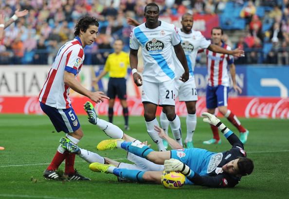Partido frente al Atlético (Vía: www.zimbio.com)