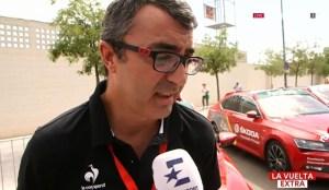 Jorge Guillen es entrevistado sobre la repesca. Fuente: www.ciclismoafondo.es