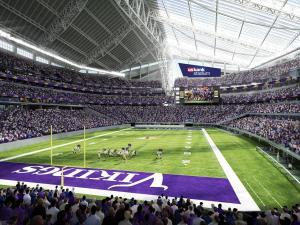 Así de espectacular luce el nuevoUS Bank Stadium. Vía: usbankstadium.com