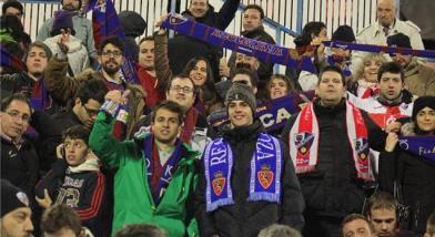 Aficionados en el Zaragoza-Huesca de la temporada pasada / www.diariodelaltoaragon.com