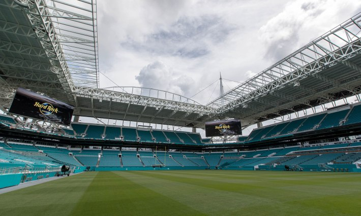 Miami Dolphins' home to be named Hard Rock Stadium in Miami Gardens, Florida on August 17, 2016. (Allen Eyestone / The Palm Beach Post)