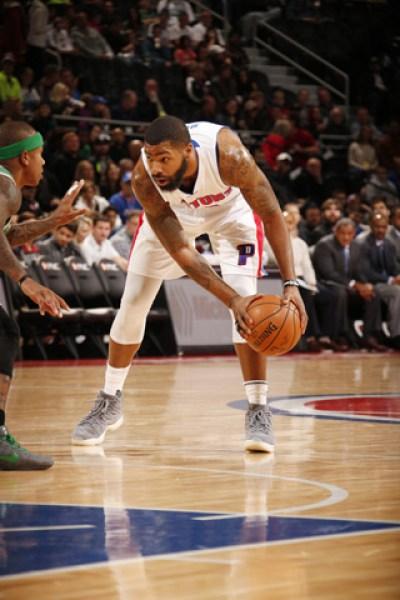 Marcus Morris fue la referencia ofensiva de los Pistons (Photo by Brian Sevald/NBAE via Getty Images)