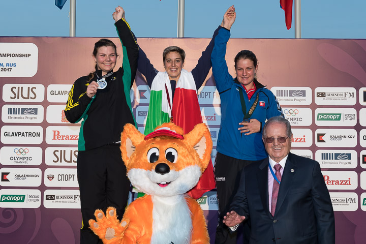 Podio Trap femenino - Mundial 2017