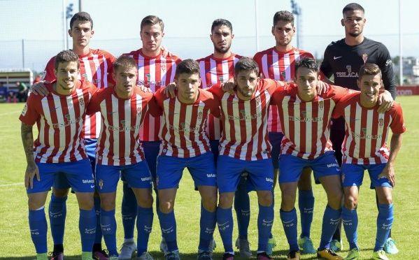 Primer XI inicial del Sporting B esta temporada (Foto: Real Sporting)