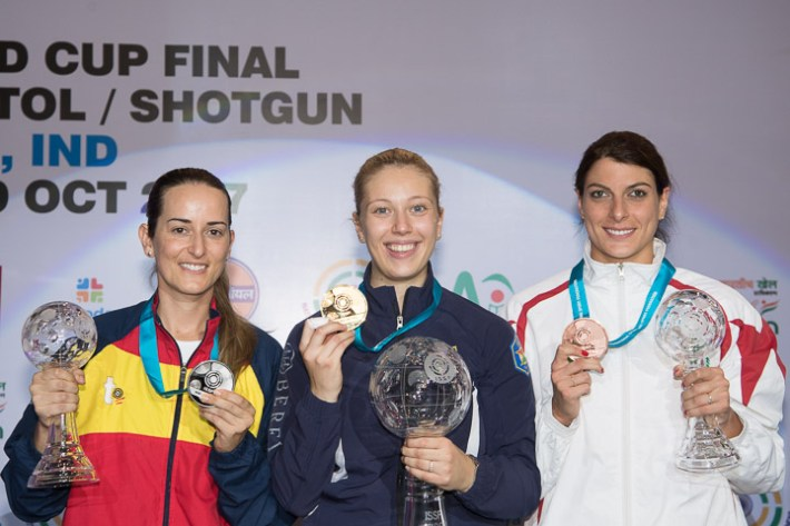 ISSF World Cup Final Rifle/Pistol/Shotgun 2017 - New Delhi, IND - Final Trap Women