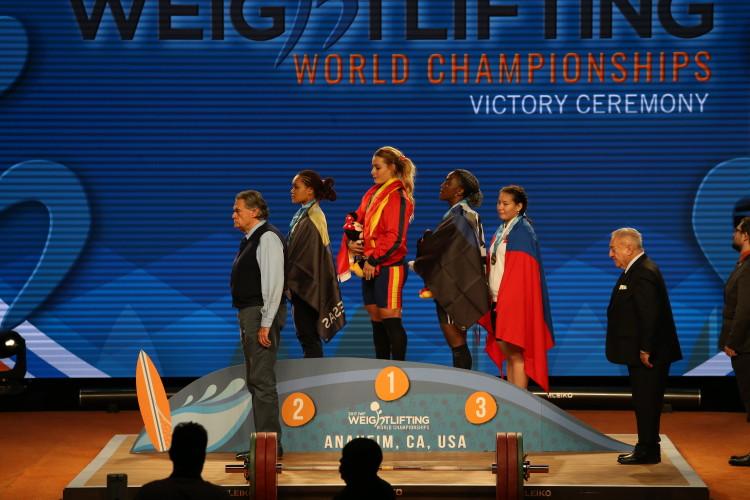 Lidia Valentin - Campeonato del Mundo Anaheim 2017 - Podio