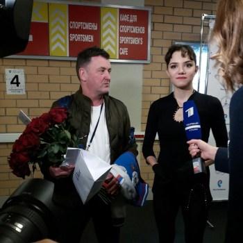Brian Orser y Evgenia Medvedeva