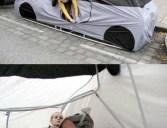 Barraca de camping em forma de carro