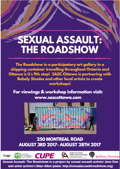 Sexual Assault: The Roadshow in Ottawa