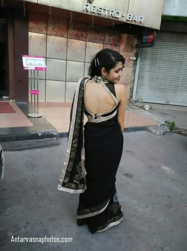 saree me sexy back