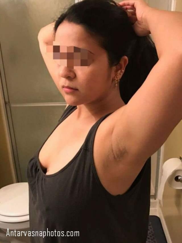 aunty ki shaved arm pits