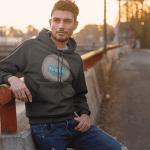 ဖက်ရှင်စတိုးရပ်ဘီချွေးထွက်ရပ်ဂ်ဘီ hood ကိုလူသ