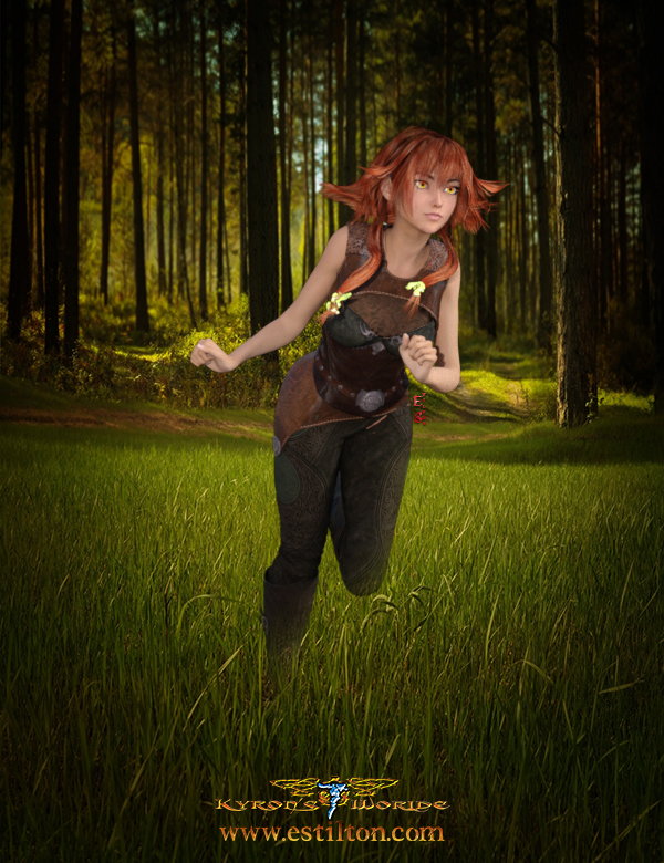 Free Running Fantasy Girl Image