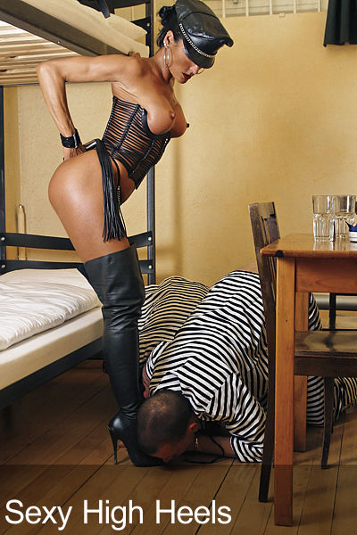 Action in high boots 1