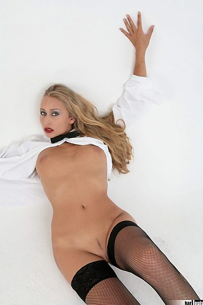 Valery Hilton Shirt and Stockings 05
