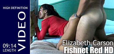 Elizabeth Carson Fishnet Red HD
